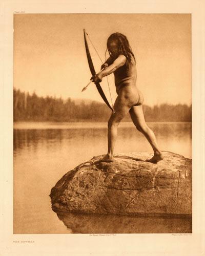Indio nootka pescando